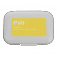 Travel Pill Box, 8 Compartments Pill Organizer, Potable Medication Organizer (Yellow)
