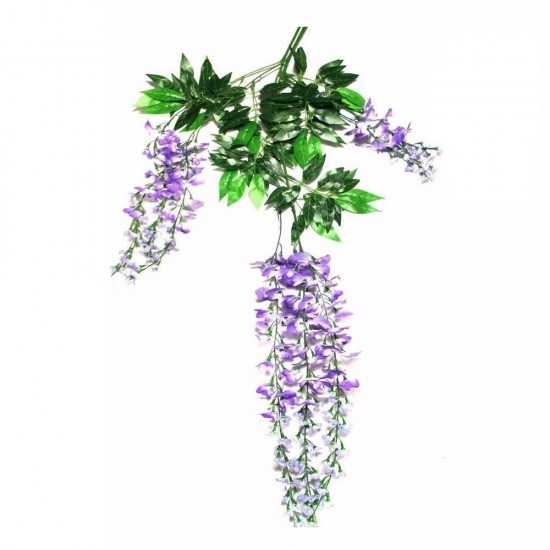 Mylifeunit elegant artificial silk flowers wisteria vine rattan for mylifeunit elegant artificial silk flowers wisteria vine rattan for wedding centerpieces decorations bouquet garland home ornament 12pcsset purple mightylinksfo