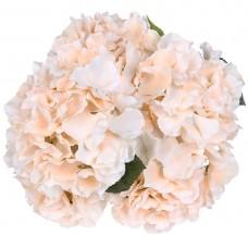 5 Heads Artificial Hydrangea Silk Flower Wedding Floral Decor Bouquet (Champagne)