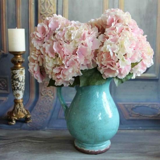 Mylifeunit 5 heads artificial hydrangea silk flower wedding floral mylifeunit 5 heads artificial hydrangea silk flower wedding floral decor bouquet pink mightylinksfo