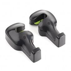 Car Seat Headrest Hanger Holder Hook, Hang Purse or Grocery Bags - 2 Pack (Black)