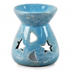 Home Decor Handcraft Ceramic Aroma Oil Burner, Candle Holder, 6 Color Option (blue)