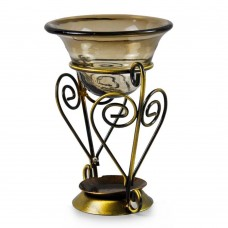 Heart Shape Handcraft Metal Aroma Oil Burner Warmer Candle Holder