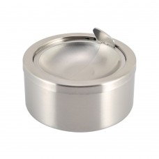 Windproof Cigarette Ashtrays, Flip-top Stainless Steel Tabletop Ashtray for Cigarettes