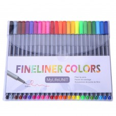 FineLiner Pens, 0.4mm Micro Point Pens Sketch Drawing Pens, 24 Assorted Colors