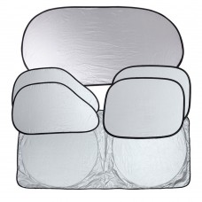 Foldable Windshield Sunshade for Car, Protects You From the Sun's Heat and UV Radiation, 6-PCS
