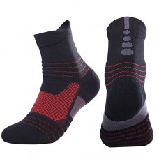 Elastic Cotton Sport Socks, Functional Ankle Length Socks for Men Women