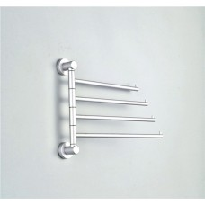 Wall Mount 4-Arm Swivel Towel Bars, Aluminum, 11 Inch