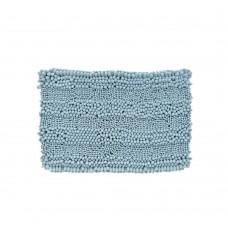 """Absorbent Microfiber Bath Mat, Soft Chenille Bath Rug Shower Mat, 16"""" x 24"""" (Mint Blue)"""