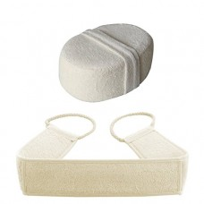 Loofah Body Scrubber Set, Exfoliating Back Scrubber, Loofah Sponge Pad for Man and Women