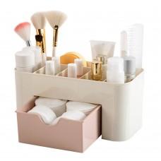 Makeup Organizer, Cosmetic Holder with Drawer, Makeup Brush Holder for Brushes, Lipsticks