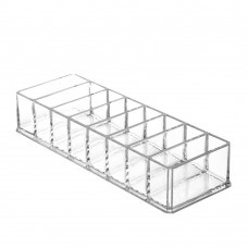 Compact Holder, Cosmetic Palette Organizer, Acrylic Makeup Holder with 8 Compartments