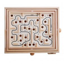 Wood Labyrinth Game, Tilting Balance Maze Game Pavilion