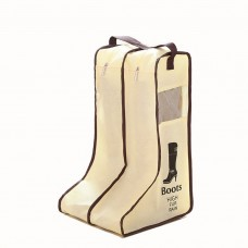 Woman Boot Bag, Long Boot Bag, Non-Woven Fabric with Clear Window, 17.71 inch (Beige)