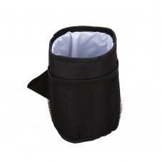 Insulated Cup Holder for Stroller, Stroller Pocket, Black