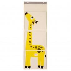 Foldable Hanging Wall Organizer, Hanging Storage Pocket (Yellow)