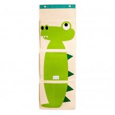Foldable Hanging Wall Organizer, Hanging Storage Pocket (Green)