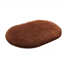 Soft Bathroom Mat Rug Oval, 16-Inch by 24-Inch, Brown