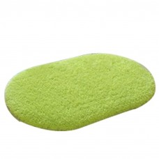 Soft Bathroom Mat Rug Oval, 16-Inch by 24-Inch, Green