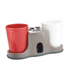Toothpaste Dispenser Toothpaste Squeezer Kit with Two Cup