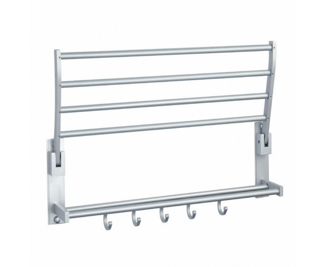 Wall Mounted Towel Rack With Hooks | Home design ideas