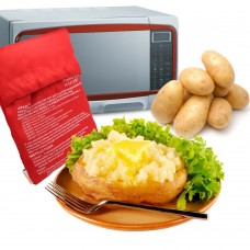 Microwave Potato Bag, Baked Potato Microwave Baking Bag, Red