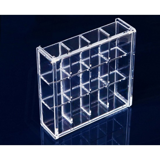 MyLifeUNIT Lattice Acrylic Makeup Organizer Cosmetic Jewellery Nail Tips Display Storage Case Clear12 Square  sc 1 st  MyLifeUNIT & MyLifeUNIT: Lattice Acrylic Makeup Organizer Cosmetic Jewellery Nail ...