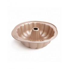 Nonstick Bundt Cake Pan, Budt Cake Mold Pan 10 Inch, Gold