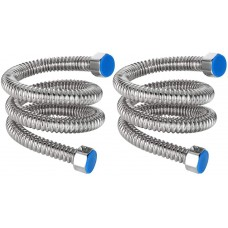 Stainless Water Heater Hose, 1/2 Inch FIP 23.6 Inch Length Hot Water Heater Connector for Bathroom (2 Pack)