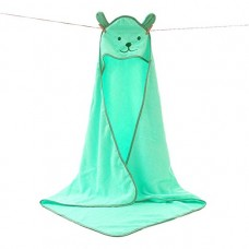 Children's Hooded Bath Towels, Baby Beach Towel, Nature Cotton (green)