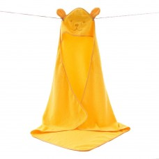 Children's Hooded Bath Towels, Baby Beach Towel, Nature Cotton (yellow)