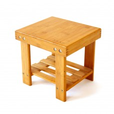 Portable Bamboo Foot Stool for Bedroom or Living Room