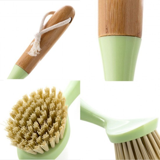 MyLifeUNIT: Bamboo Handle Dish Brush, Pot and Pan Cleaning ...