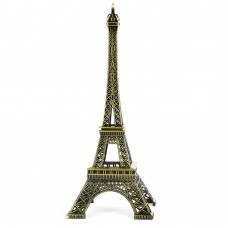 France Paris Eiffel Tower Statue Figurine Vintage Alloy Decor (38cm)