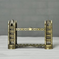 Landmarks Construction Metal Building Model Desktop decoration Ornament (London Tower Bridge)