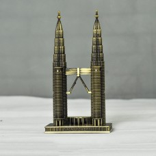 Landmarks Construction Metal Building Model Desktop decoration Ornament (Petronas Twin Tower)