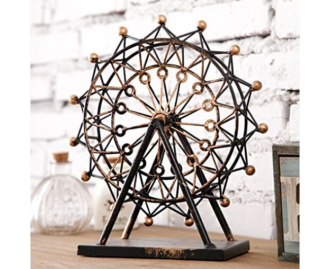 Decorative vintage ferris wheel london eye tin metal for Home decorations london