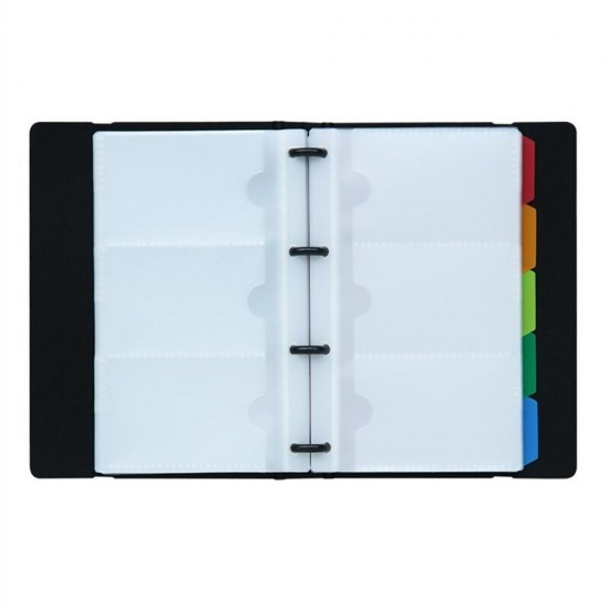 Mylifeunit business card holder book name card organizer book with mylifeunit business card holder book name card organizer book with five color index tabs 120 cards colourmoves