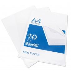 """Transparent File Holder, 11"""" x 8-1/2"""" Letter Size, 10/Pack"""
