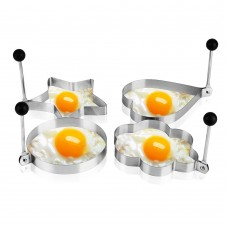 Stainless Steel Fried Egg Molds, Set of 4pcs