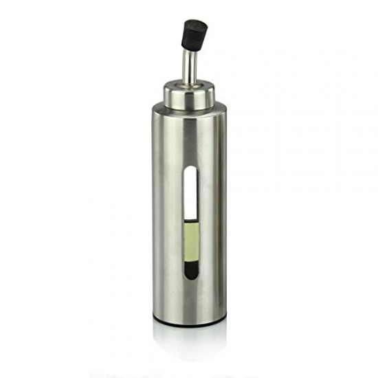 Mylifeunit Oil Bottle Stainless Steel Olive Oil Dispenser 200ml