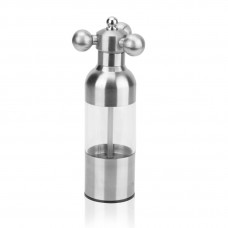 Pepper Mill Grinder, Stainless Steel Pepper Mill, 6.9 inch