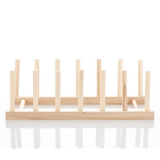Dish Holder Rack Wood Plate Rack Pot Lid Organizer. \u2039 \u203a  sc 1 st  MyLifeUNIT & MyLifeUNIT: Dish Holder Rack Wood Plate Rack Pot Lid Organizer