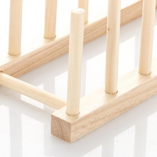 Dish Holder Rack Wood Plate Rack Pot Lid Organizer. \u2039 \u203a & MyLifeUNIT: Dish Holder Rack Wood Plate Rack Pot Lid Organizer