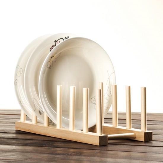 mylifeunit dish holder rack wood plate rack pot lid organizer. Black Bedroom Furniture Sets. Home Design Ideas