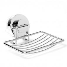 Soap Dish Tray, Stainless Steel Soap Dish for Kitchen Bathroom with Locking Sucking