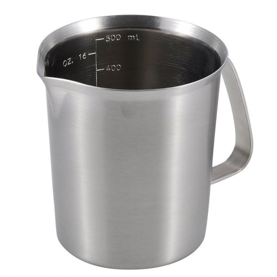measuring cup stainless steel milk frothing pitcher 16 ounces 05 liter 2 cup