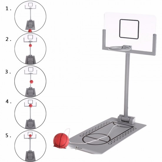 MyLifeUNIT: Mini Foldable Tabletop Spring Loaded Basketball Game Desktop Toy