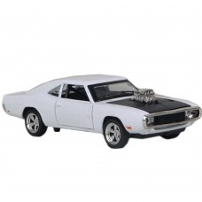 1:32 Dodge Charger 1970 Alloy Die-cast Car Model Collection light &Sound (White)