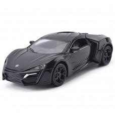 1:32 Scale Lykan Hypersport Black Die-cast Car Model Collection light &Sound (Black)